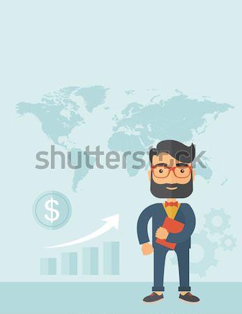 Man holding book under his arm. Stock photo © RAStudio