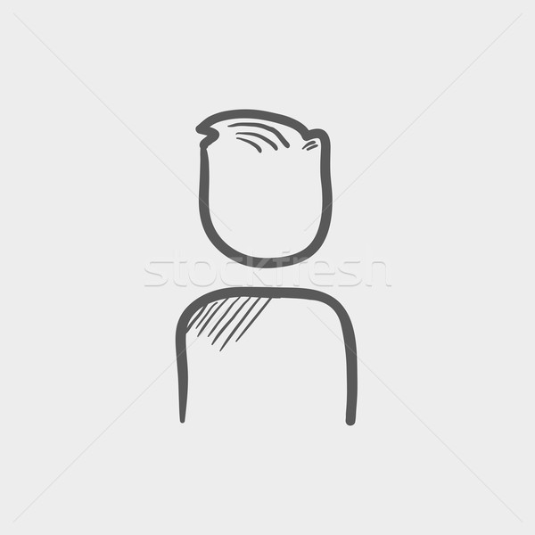 Man sketch icon Stock photo © RAStudio