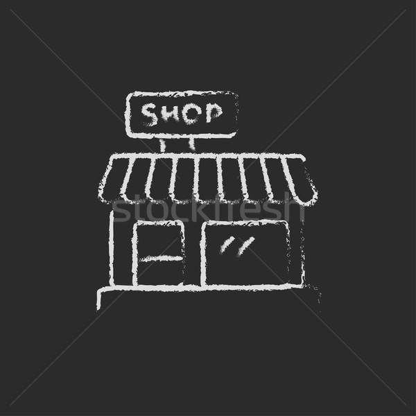 Shop icon drawn in chalk. Stock photo © RAStudio