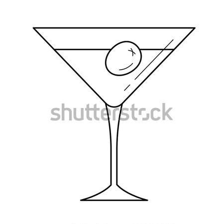 Cocktail glass icon drawn in chalk. Stock photo © RAStudio