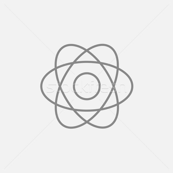 Atomo line icona web mobile infografica Foto d'archivio © RAStudio