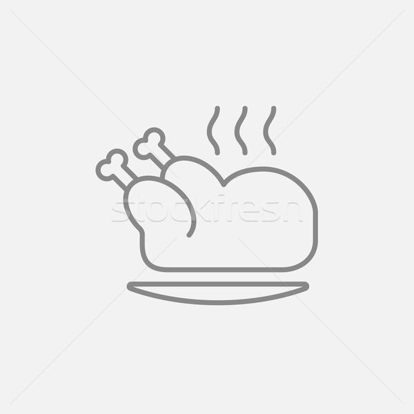 全体 鶏 行 アイコン ウェブ ストックフォト © RAStudio