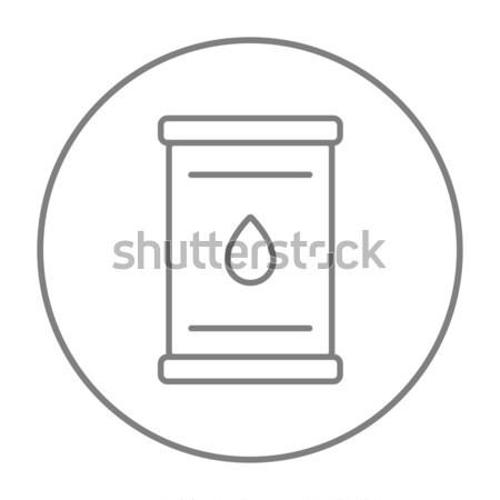 Olio barile line icona web mobile Foto d'archivio © RAStudio