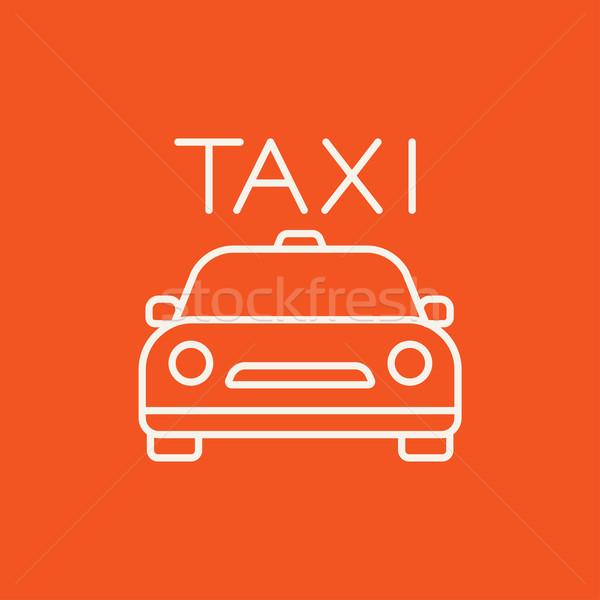 такси линия икона веб мобильных Инфографика Сток-фото © RAStudio