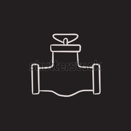 Gas pipe valve line icon. Stock photo © RAStudio