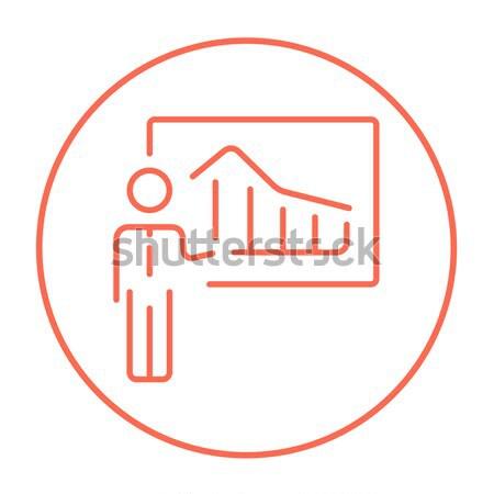 Businessman with infographic line icon. Stock photo © RAStudio