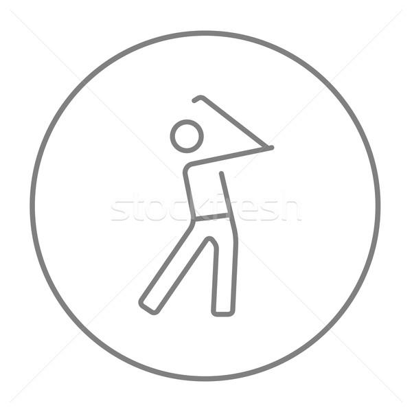 Stock photo: Golfer line icon.