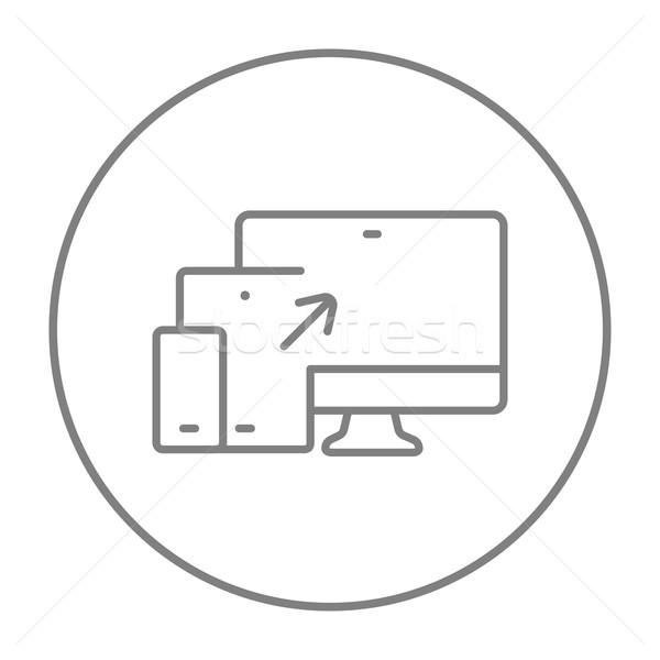 Duyarlı web tasarım hat ikon web hareketli Stok fotoğraf © RAStudio