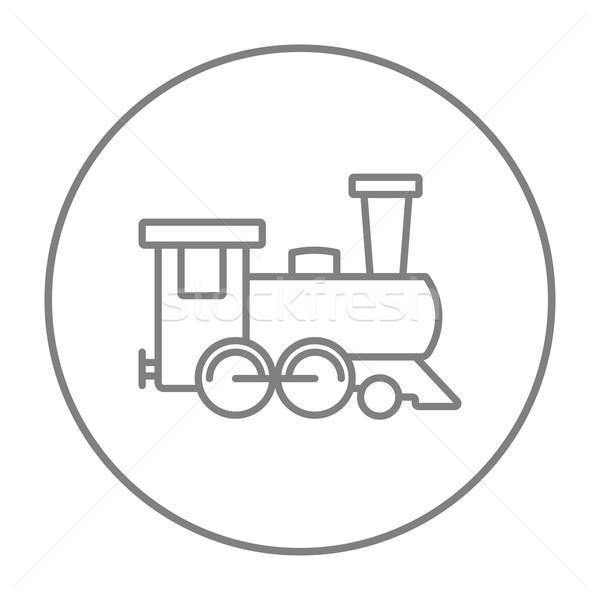 ストックフォト: 列車 · 行 · アイコン · ウェブ · 携帯 · インフォグラフィック