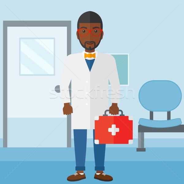 医師 応急処置 ボックス 立って 病院 ベクトル ストックフォト © RAStudio
