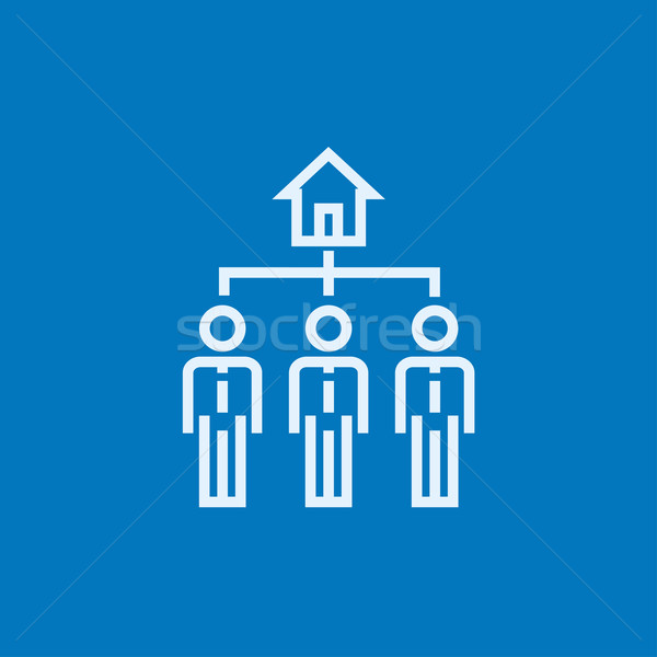 Three real estate agents line icon. Stock photo © RAStudio