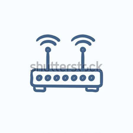 Wireless router line icon. Stock photo © RAStudio