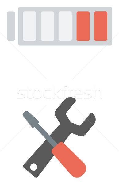 Cheie surubelnita acumulator vector proiect Imagine de stoc © RAStudio