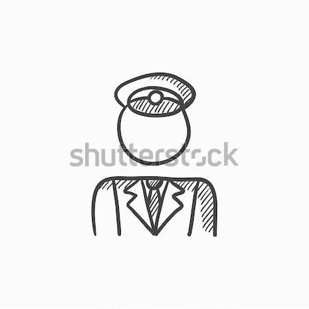 Conductor sketch icon. Stock photo © RAStudio
