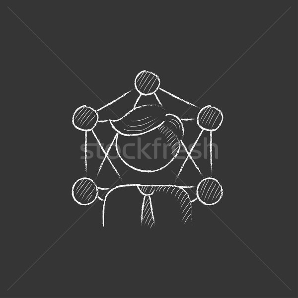 Online business. Drawn in chalk icon. Stock photo © RAStudio