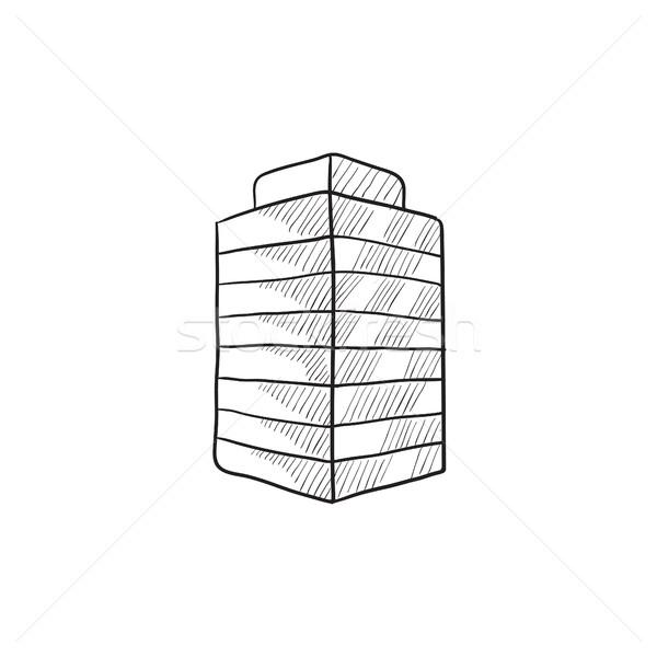 辦公樓 素描 圖標 向量 孤立 手工繪製 商業照片 © RAStudio
