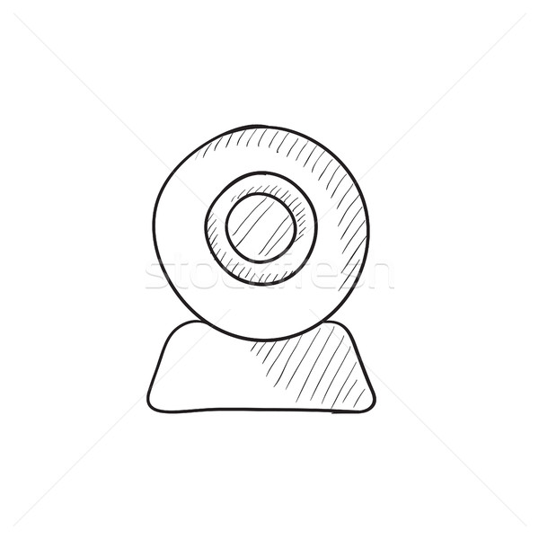 Web camera sketch icon. Stock photo © RAStudio