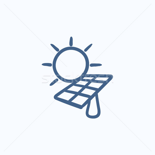 Solar energy sketch icon. Stock photo © RAStudio