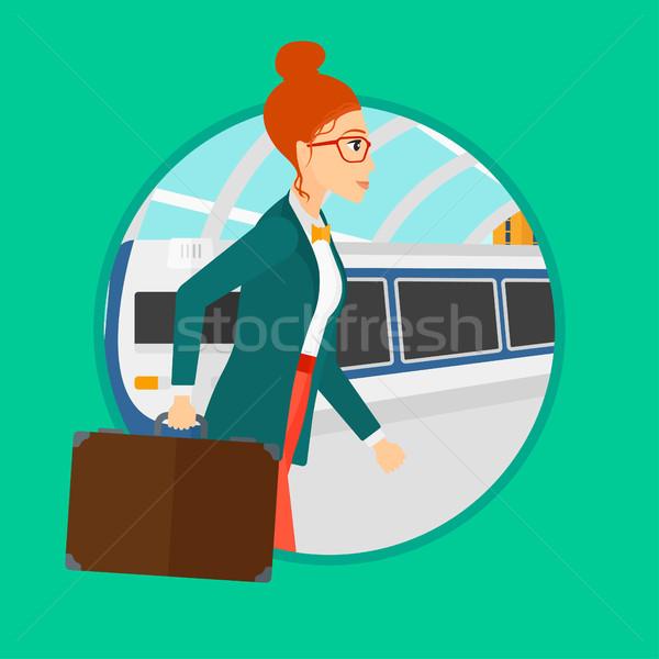 Woman at the train station. Stock photo © RAStudio