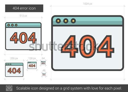 Internetowych błąd line ikona 404 wektora Zdjęcia stock © RAStudio