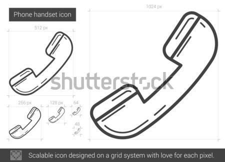 Phone handset line icon. Stock photo © RAStudio
