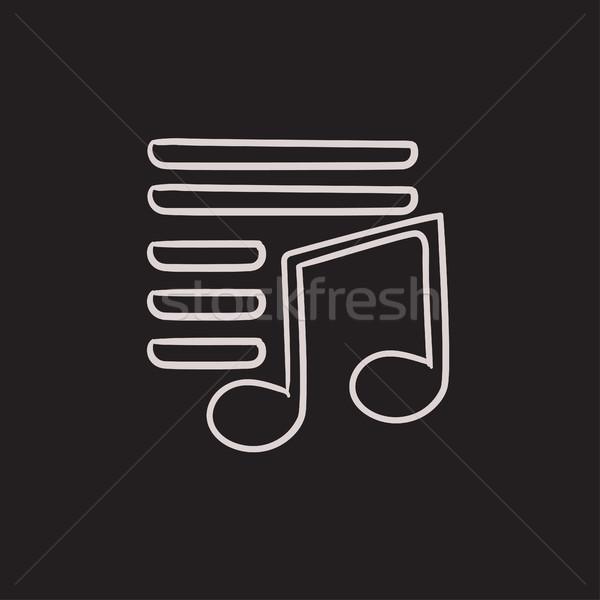 Musical note sketch icon. Stock photo © RAStudio