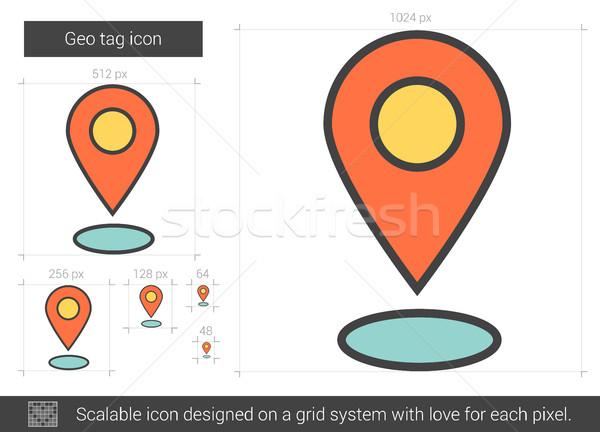 Geo tag line icon. Stock photo © RAStudio