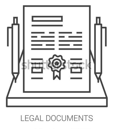 Yasal belgeler hat mecaz simgeler Stok fotoğraf © RAStudio