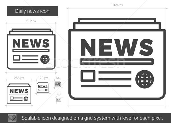 Tutti i giorni news line icona vettore isolato Foto d'archivio © RAStudio