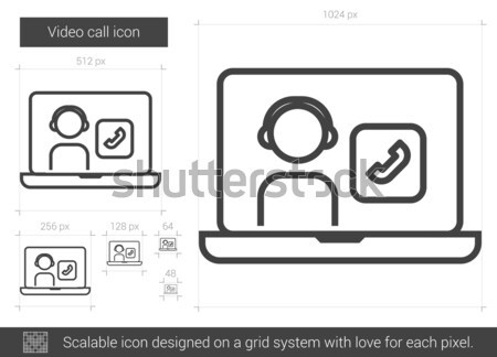 Video call line icon. Stock photo © RAStudio