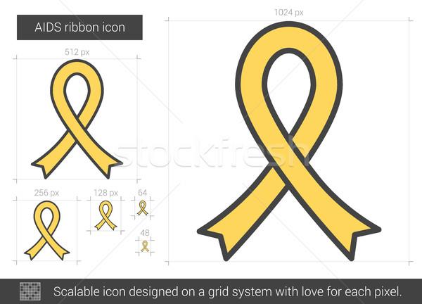 СПИДа лента линия икона вектора изолированный Сток-фото © RAStudio