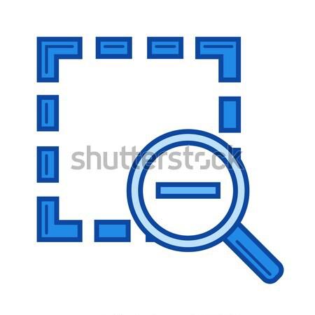 Zoom out line icon. Stock photo © RAStudio