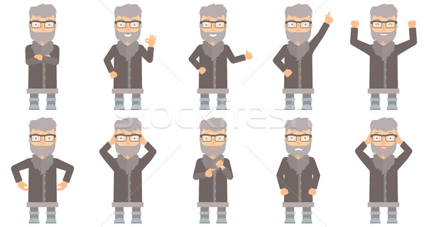 Vector set of north man characters. Stock photo © RAStudio