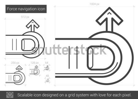 Navegación línea icono vector aislado blanco Foto stock © RAStudio