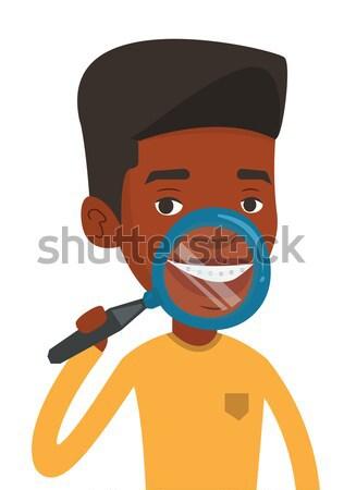 Homem cara creme navalha mão diariamente Foto stock © RAStudio