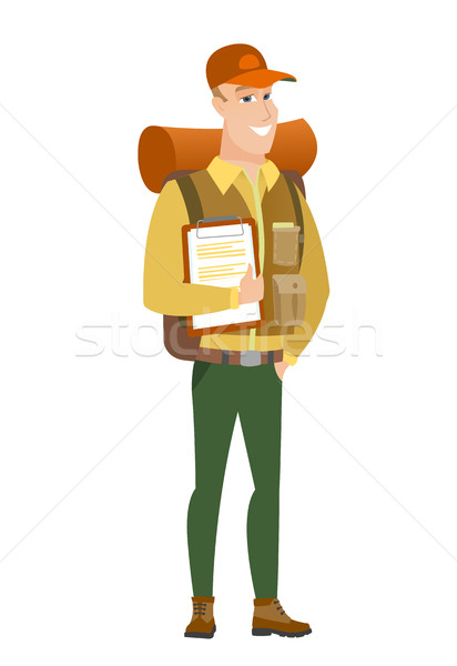 Reiziger papieren kaukasisch Stockfoto © RAStudio