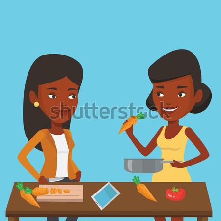 女性 料理 健康 野菜 食事 アフリカ ストックフォト © RAStudio