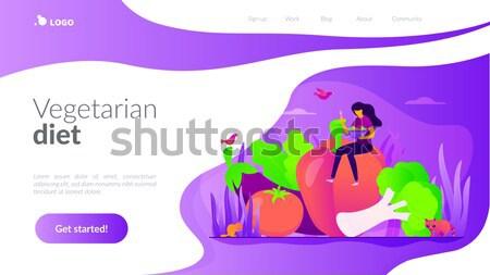 Twee ecologisch banners ruimte tekst ecologie Stockfoto © RAStudio