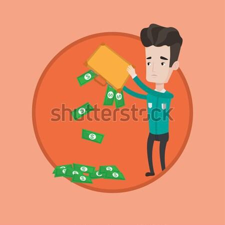 Becsődölt ki pénz aktatáska lehangolt ázsiai Stock fotó © RAStudio