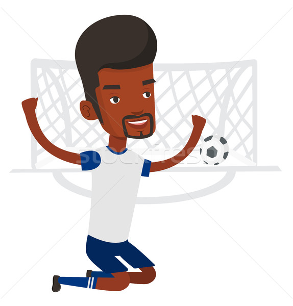 Soccer player celebrating scoring goal. Stock photo © RAStudio