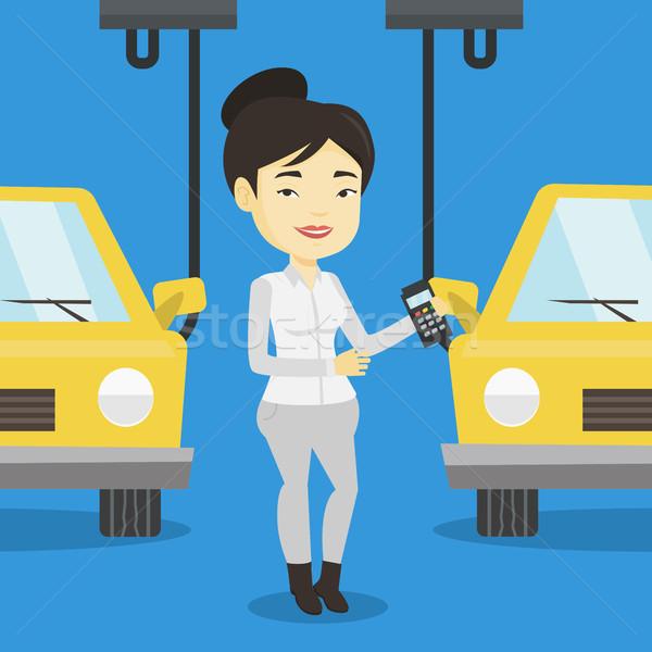 ワーカー 車 アジア 工場 幸せ ストックフォト © RAStudio