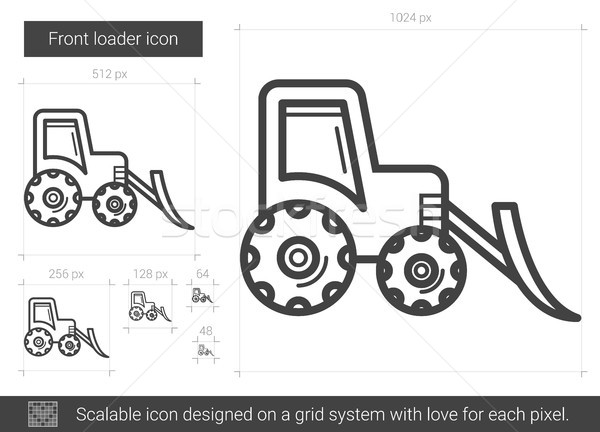 Front loader line icon. Stock photo © RAStudio