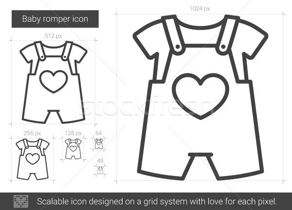 Baby lijn icon vector geïsoleerd witte Stockfoto © RAStudio