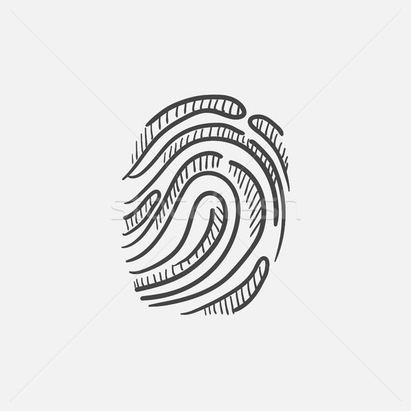 Impronte digitali sketch icona web mobile infografica Foto d'archivio © RAStudio