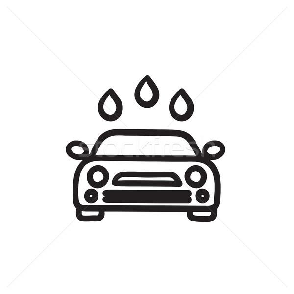 Car wash sketch icon. Stock photo © RAStudio