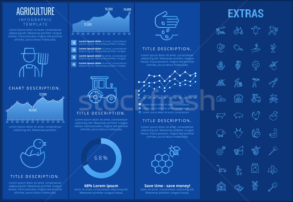 Agriculture infographic template, elements, icons. Stock photo © RAStudio