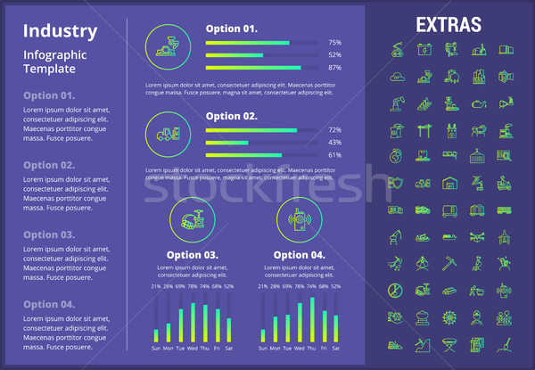 Industry infographic template, elements and icons. Stock photo © RAStudio