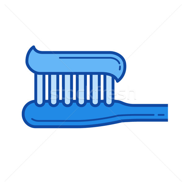 Toothbrush line icon. Stock photo © RAStudio