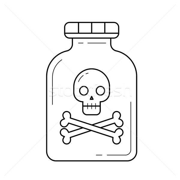 Hazardous poison line icon. Stock photo © RAStudio