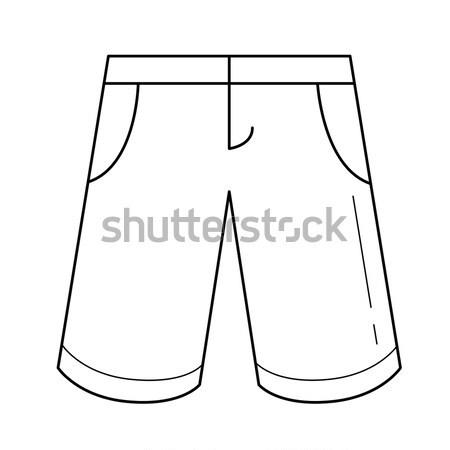 鉛筆 スカート ベクトル 行 アイコン 孤立した ストックフォト © RAStudio